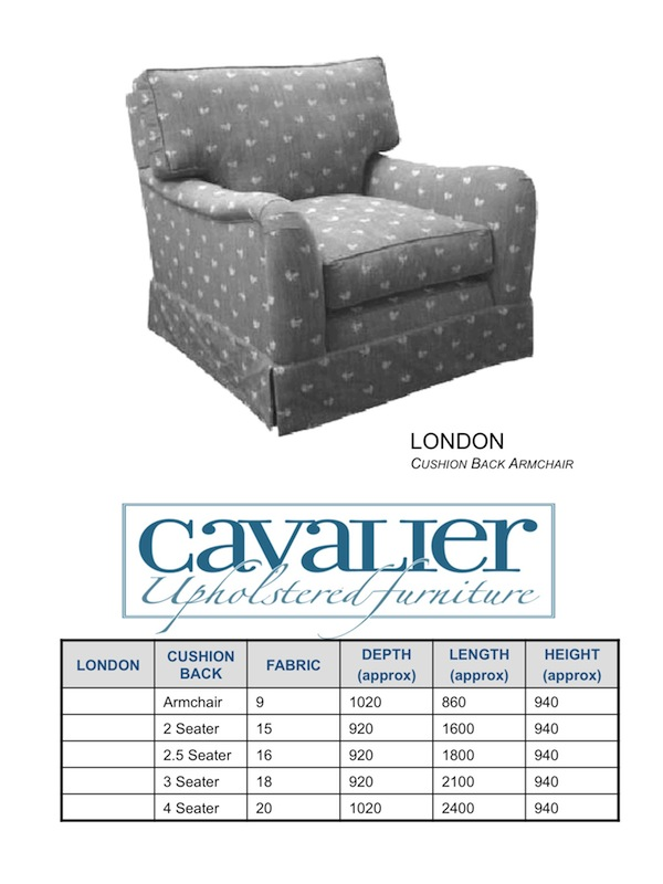 London Cushion Back Armchair
