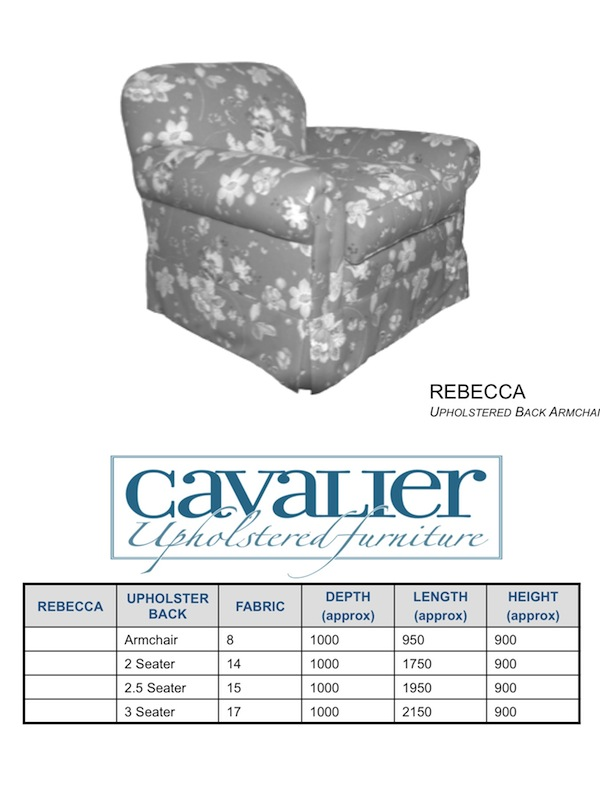 Rebecca Cushion Back Armchair